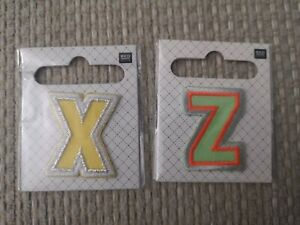 Rico Design - Iron On/saw on Letter Patch - Woven Fabric X or Z