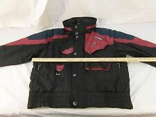 Adult Men's Vintage Spyder Black Maroon Blue Skiing Jacket Winter Coat 30439