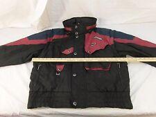 Adult Men's Vintage Spyder Black Maroon Blue Skiing Jacket Winter Coat 30439