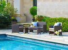 Rattan Garden Furniture Set 4pc Outdoor Table Chair Sofa Conservatory Patio Set