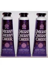 Bath & Body Works MERRY CHERRY CHEER 1 oz. Hand Cream Pack Of 3 NEW