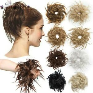 Large Thick Messy Bun Hair Scrunchie Updo Cover Curly Hair Extensions