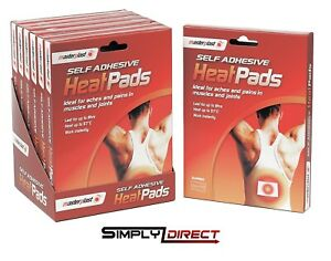 Masterplast Self Adhesive Heat Pads Pack Muscle Back Joint Pain Relief Instant