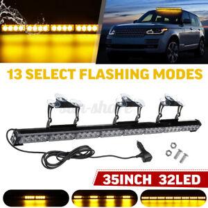 35'' 32 LED Car Emergency Warning Flash Strobe Bar Traffic Advisor Light Lamp
