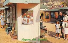 Laguna Beach, California Art Festival Laguna Canyon 1962 Vintage Postcard