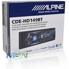 ALPINE CDE-HD149BT IN-DASH CD/MP3/USB CAR AUDIO RECEIVER W/ BLUETOOTH & HD RADIO