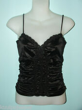 MODA INTERNATIONAL RUCHED CAMISOLE/TOP BLACK SIZE S