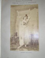 FIGARO PHOTOGRAPHE 1892 INCLUANT PHOTOGRAPHIE AU SEL D'ARGENT DE NADAR 31X18