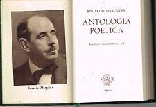Eduardo Marquina Antologia Poetica Crisol Num. 31 Aguilar Minibook Leather