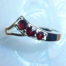 Size 6.25 Bohemian Rose Cut Garnet Sterling Silver Ring # SR-705 Jewelry Certif.