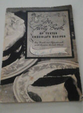 VINTAGE MY PARTY BOOK OF TESTED CHOCOLATE RECIPES 1938 GENERAL FOODS