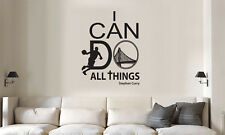 STEPHEN CURRY WARRIORS I CAN DO ALL THINGS WALL QUOTE DECAL VINYL DECOR