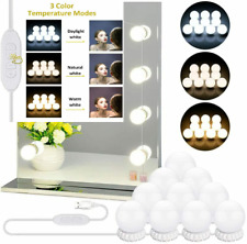 LED Vanity Mirror Lights with 10 Dimmable Bulbs 3 Color Modes, 10