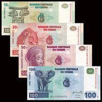 Lot Pack Bundle 100 PCS P-97 UNC 2007-2013 Congo 50 Francs