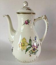 "Bing & Grondahl Porcelain COFFEE POT 91A Saxon Flower Denmark 9 3/4"" Old Mark"