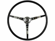 1964 1/2 Ford Mustang Reproduction Black Steering Wheel with Horn Ring