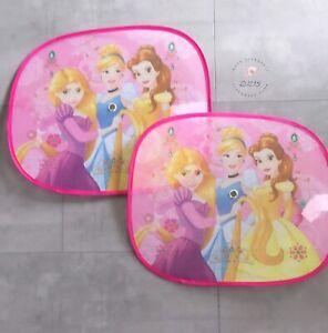 2x Auto Sonnenschutz Sonnenblende Princess Prinzessin Rosa Urlaub Disney Neu