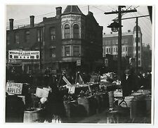 Chicago History - Street Market - Vintage 8x10 Photograph - Chicago, IL