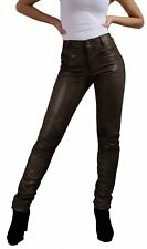 Damen Lederhose Lederjeans Slimfit Tight pants Ziegen Nappa Echtleder XS-2XL