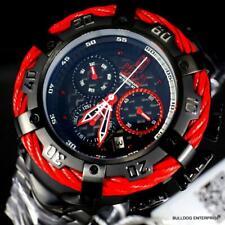 Invicta Reserve JT Thunderbolt Black Steel 56mm Swiss Mvt Red Watch New