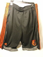 L.A Clippers Adidas black with red and gray basketball shorts. 100% polyester