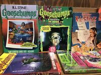 Goosebumps/Fear Street  Books - Lot of 10 - Random mix/Unsorted R.L. Stine