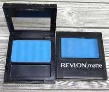 Revlon 2pc Lot Matte Eye Shadow Singles ~ 005 Venetian Blue ~ New (x2)