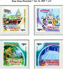Hong Kong 2003 QEII Disneyland set of 4 SG1150-1153  MNH