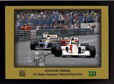 AYRTON Senna Firmato Autografato Memorabilia FORMULA 1 MCLAREN HONDA CHAMPION #08
