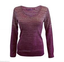 V Neck Patternless NEXT Long Sleeve Tops & Shirts for Women