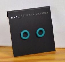 Marc Jacobs wintergreen Rubber Doughnut circle Stud Earrings