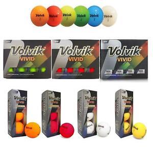 NEW VOLVIK VIVID COLOUR GOLF BALLS (CHOOSE COLOUR)