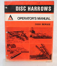 Allis-Chalmers 3000 Series Disc Harrows Operator's Manual.