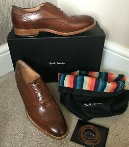 PAUL SMITH LEATHER CRISTO BROGUE SHOES MADE IN ITALY SIZE 7 RETAIL