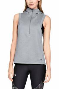 Under Armour Women's Hooded Hoodie armour Fleece 1/2 Zip Vest Save 50% XS