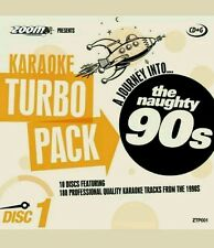 Zoom Karaoke CDG 90s hits Turbo Pack 188 pistas superior en 10 Discos Nuevo