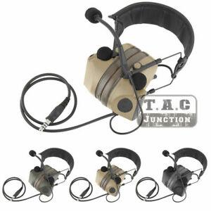 Tactical Peltor COMTAC II Headset Electronic Hearing Protector Shooting Earmuff