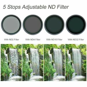 K&F Concept 72mm Fader ND Lens Filter Variable ND2 to ND32 for Camera no x  Spot