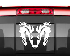 """RAM with FLAMES Vinyl Decal Stickers JDM Car Truck Decal 12"""" X10"""""""