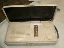 Old vintage portable Emerson 1950's model 640 tube radio marblelized plastic ++