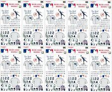 New York Yankees MLB baseball scrapbook stickers jersey personalize LOT of 10