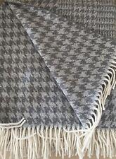 Manta de lana lana cuadros, colcha, cubierta SOFA 140x180 cm 100% Lana