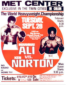 MUHAMMAD ALI KEN NORTON HEAVYWEIGHT CHAMPIONSHIP  POSTER GLOSSY MINNEAPOLIS