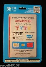 Net 10 Wireless Bring your Own Phone (BYOP)  Activation Kit