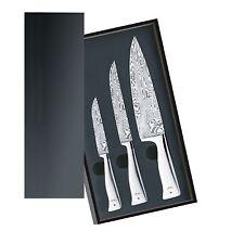 WMF Messerset 3-teilig Damasteel Damastmesser Griffe aus Edelstahl Holzkassette