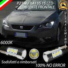 COPPIA LUCI DI POSIZIONE DRL 15 LED P21W CANBUS SEAT LEON 5F 6000K NO ERROR