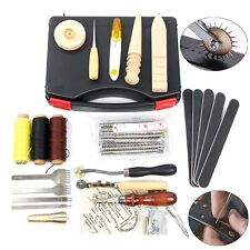 59pcs Leather Craft Hand Tools Kit For Hand Sewing Stitching Carving Stamping