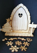 Christmas Fairy Door that opens DIY for home or Fairy Garden Decor 15pcs
