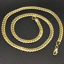 18K Yellow Gold Filled 6MM 20 Inch Jewelry Chain Link Necklace Pendant Gift