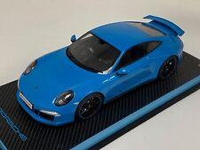 1/18 GT Spirit Porsche 911(991) Carrera 4S Aerokit baby Blue GT085  Special Base